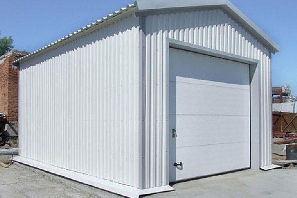 Внешний вид гаража из СИП панелей