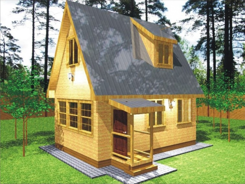 Проект дома с мансардой 6х4