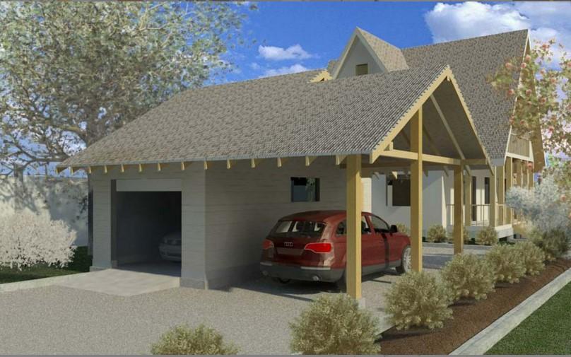 Проект гаража из панелей под ключ