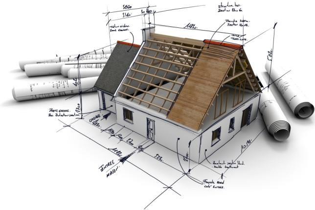 3-D модель каркасного дома