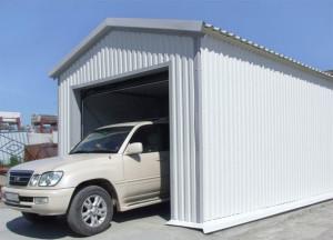 Выбор материала для строительства гаража из профнастила