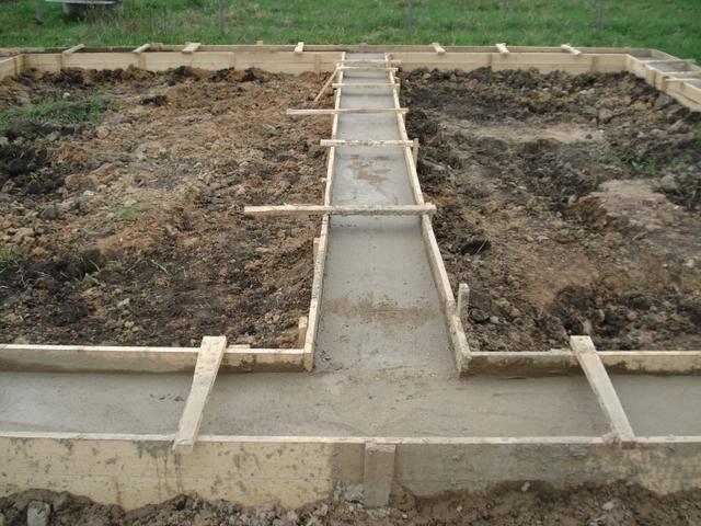 Затвердевание бетона в оплубке