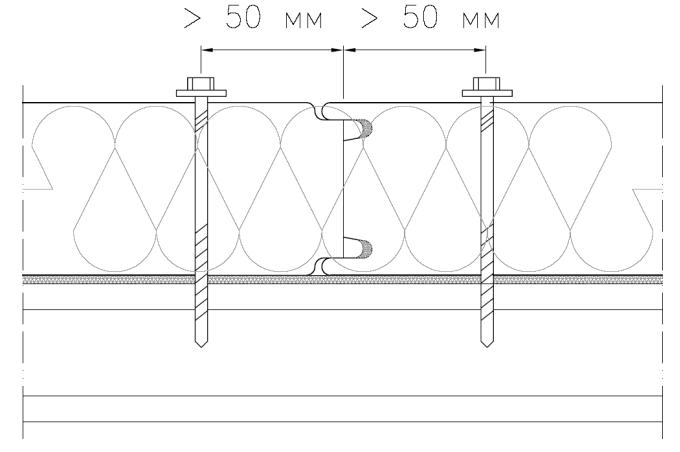 Крепление панелей к подконструкции