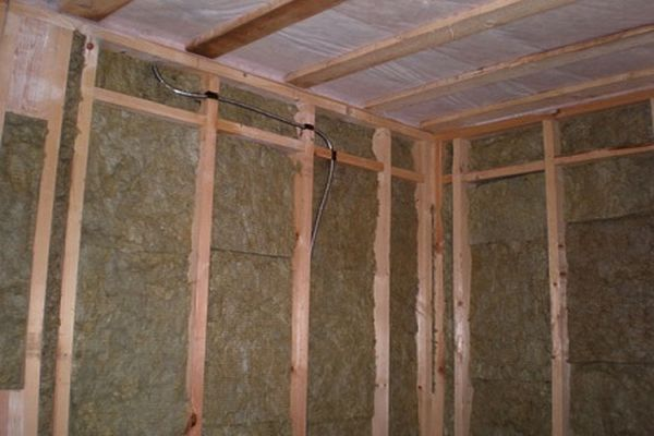 Внутренняя отделка. Обшивка стен утеплителем