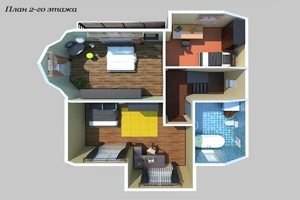Визуализация плана 2-го этажа
