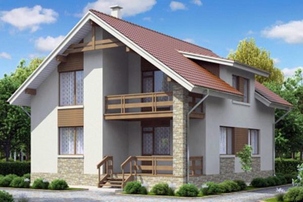 3D проект дома из Сип панелей