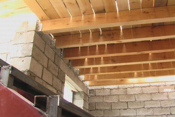 Деревянные перекрытия в доме из газобетона