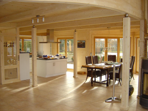 Декор внутренних помещений каркасного дома