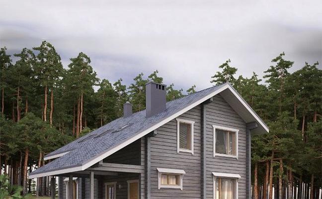 Ассиметричная крыша углом