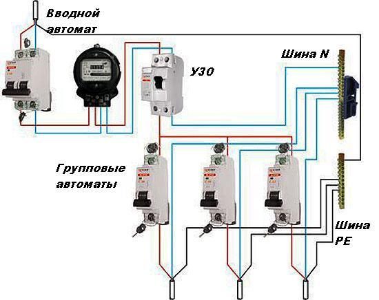 Электропроводка на даче своими руками схема