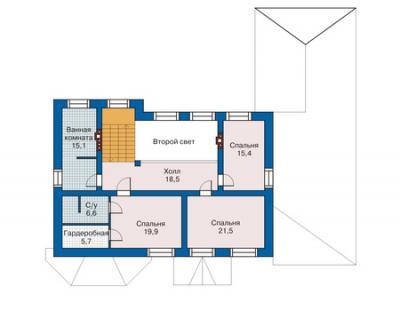 Расположение пристройки к деревянному дому