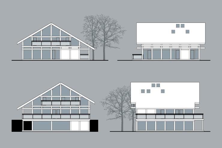 Фасад фахверковых домов