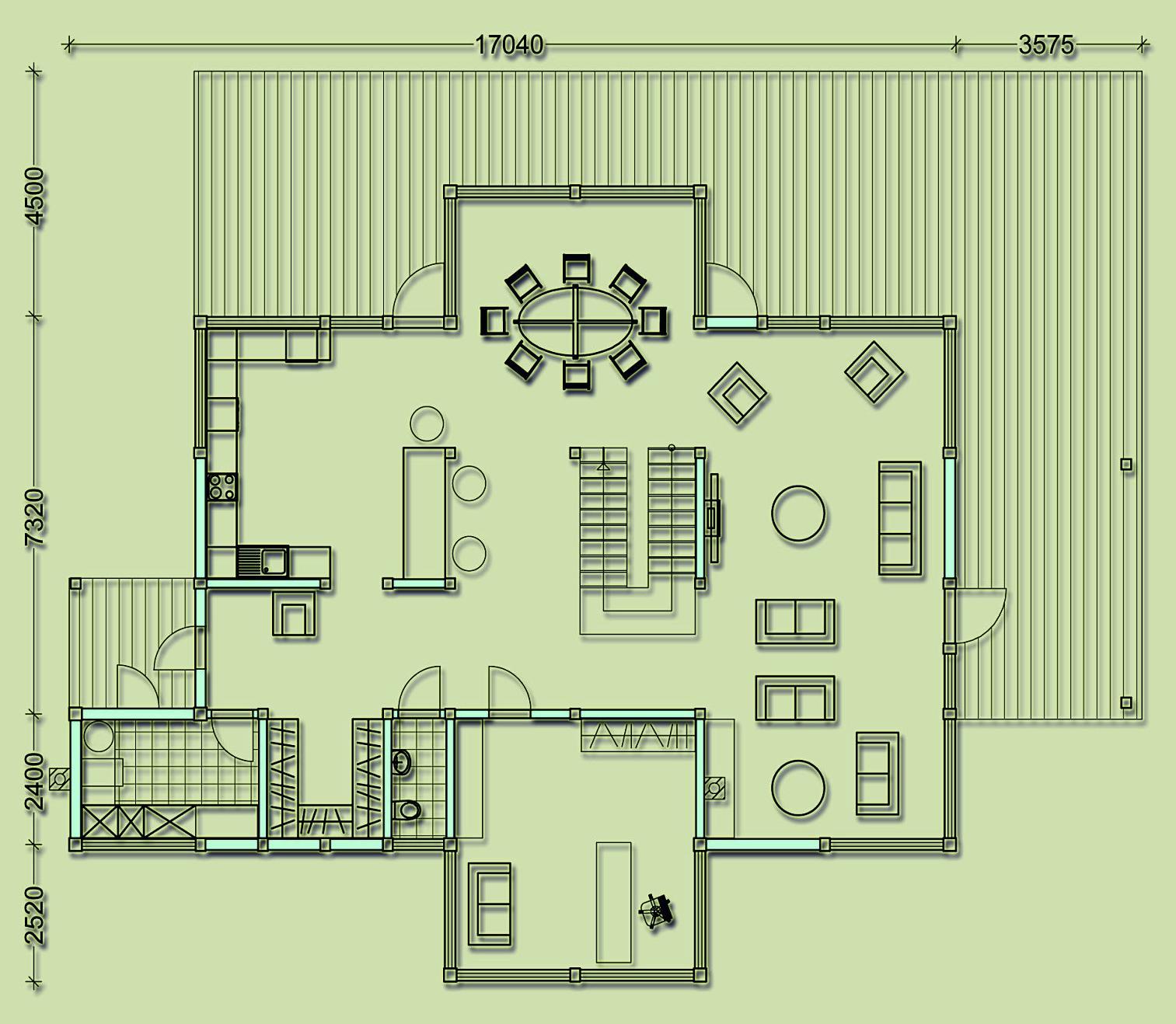 План фахверкового дома