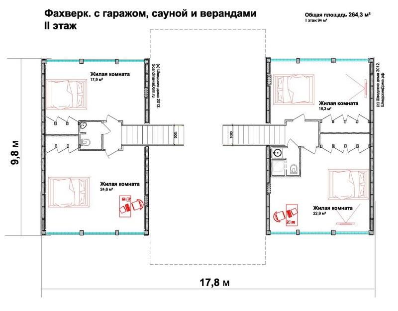 Планировка фахверкового дома