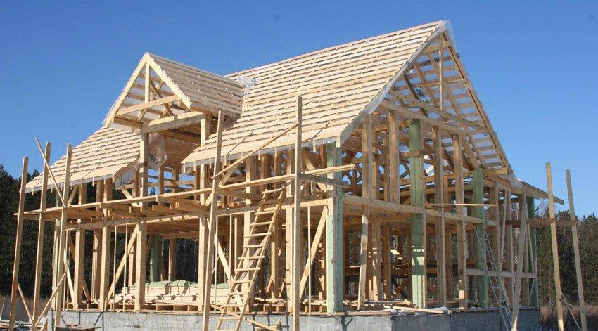 Крыша щитового дома своими руками