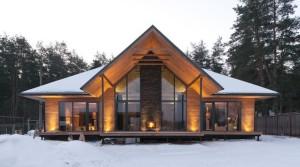 Дом шале из бруса