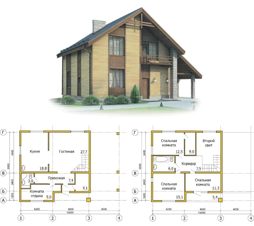 Проект дома из каркаса