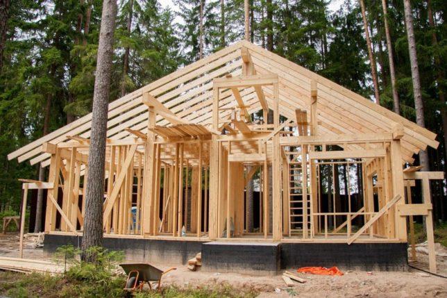 Деревянный каркас для каркасного дома