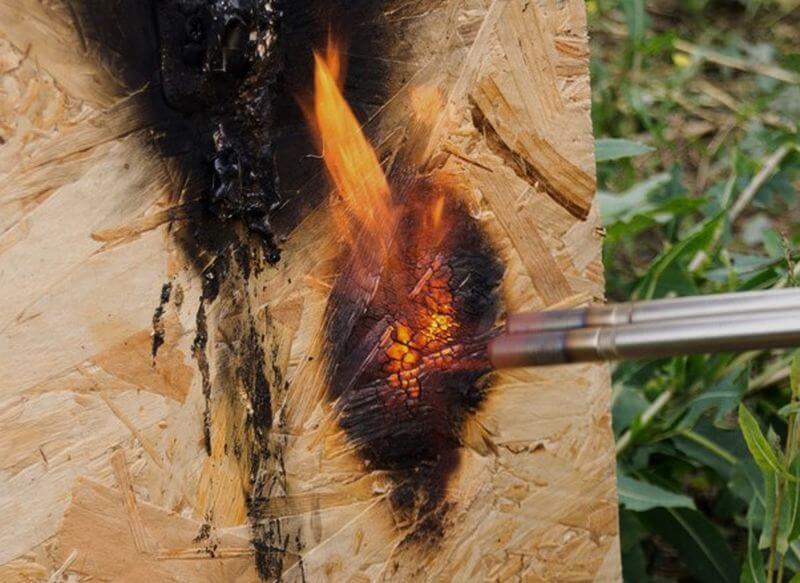 плита осб горит или нет