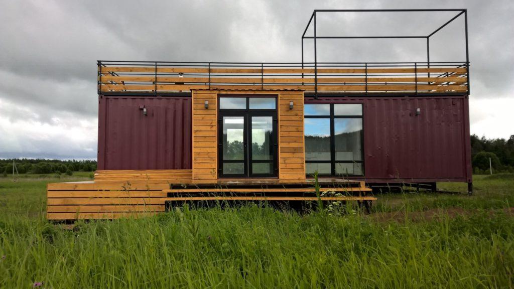 Дом из морского блок-контейнера