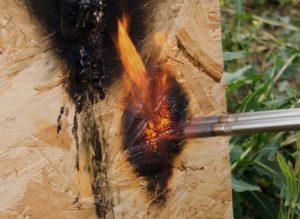 Тест горения сип панели