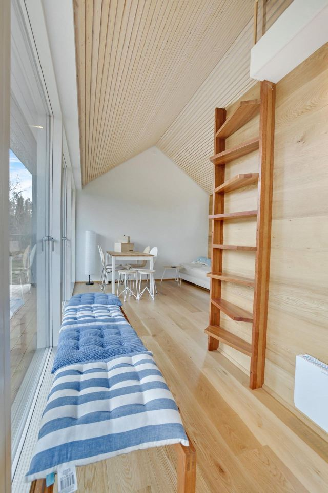 Скандинавский крошечный, современный загородный дом
