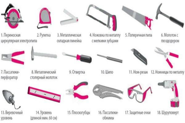 Необходимые инструменты для строительства дома
