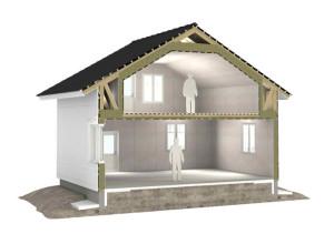 Визуализированный разрез дома