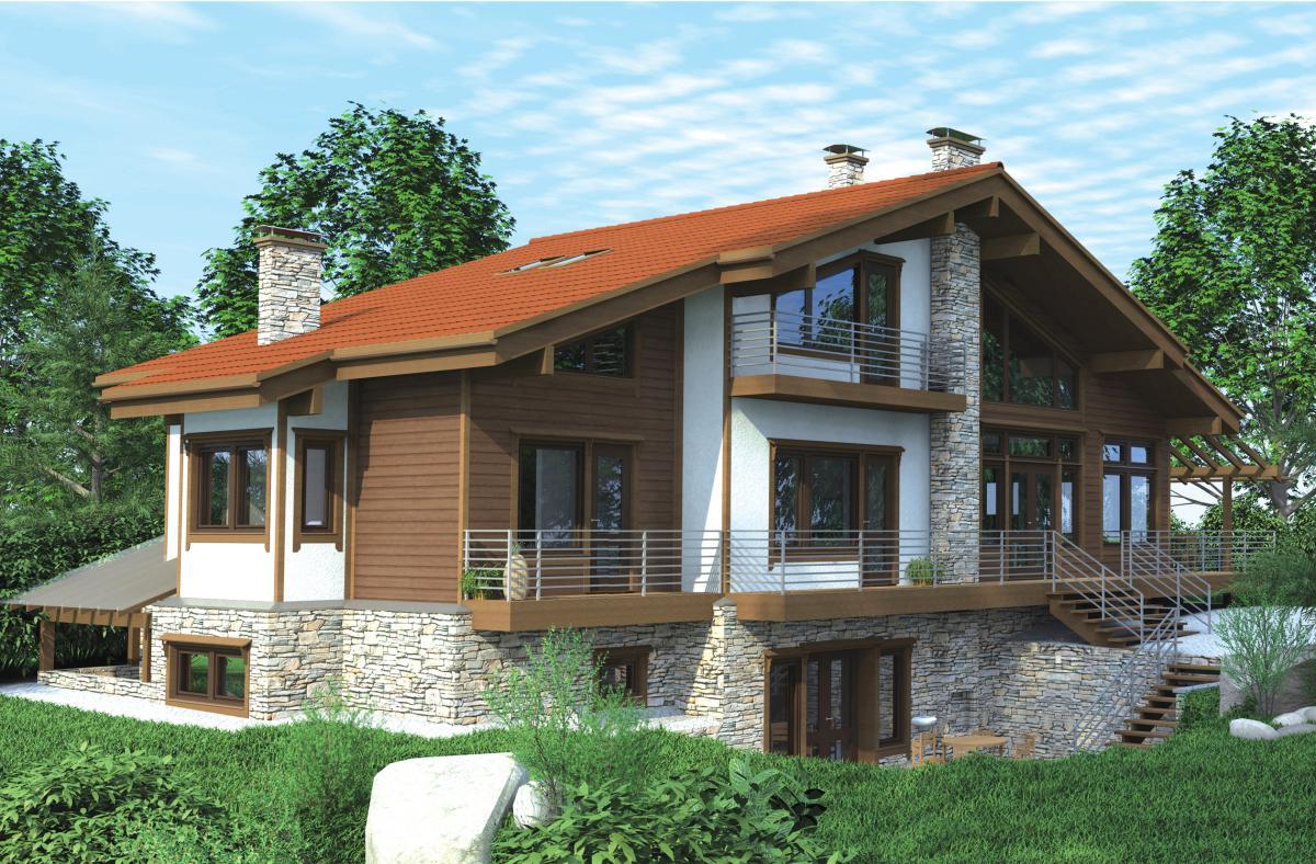 Большой каркасный дом доступный для заказа