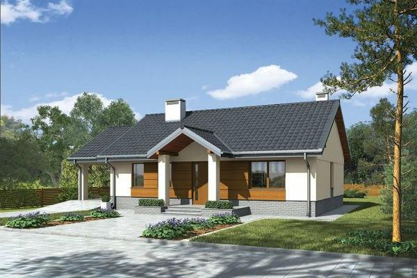 Одноэтажный каркасно-щитовой дом. Площадь застройки - 150 кв.м, жилая площадь - 80 кв.м.