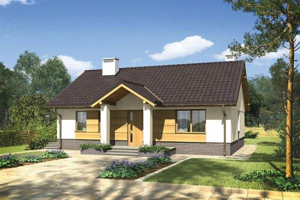 Одноэтажный каркасно-щитовой дом. Площадь застройки - 125 кв.м, жилая площадь - 80 кв.м.