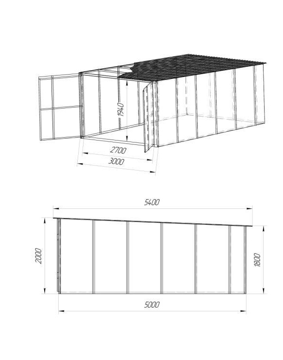 Крыша гаража из профнастила своими руками чертежи и фото