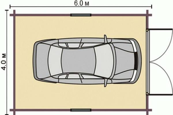 Самая простая схема гаража их панелей
