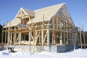 Возведение каркасного дома зимой
