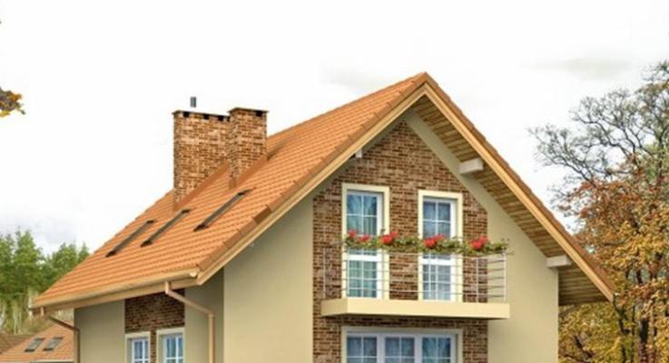 Симметричная двухскатная крыша