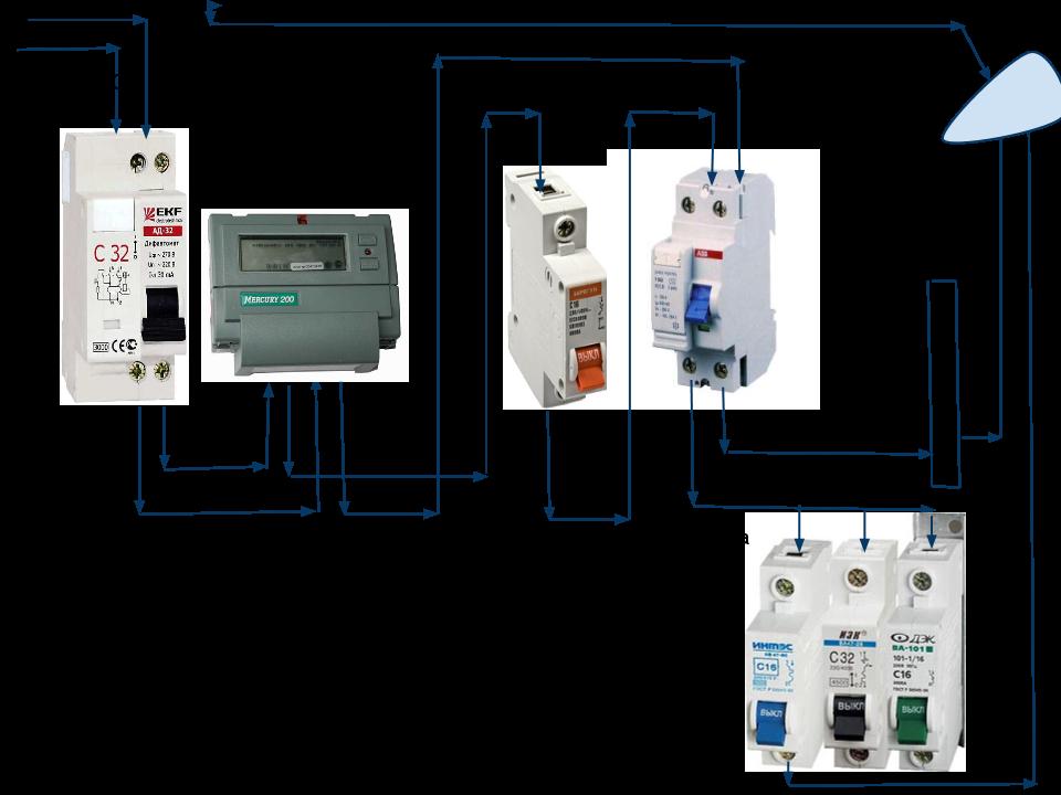Схема электрической разводки