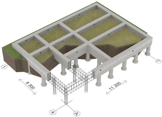 Фундамент для дома шале