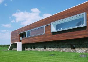 Фасад из деревянного сайдинга
