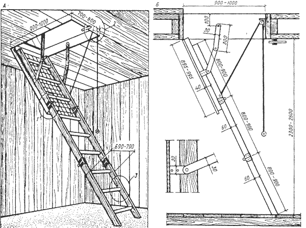 Как своими руками сделать складную лестницу на чердак