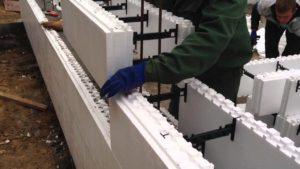 Процесс строительства дома из термоблоков